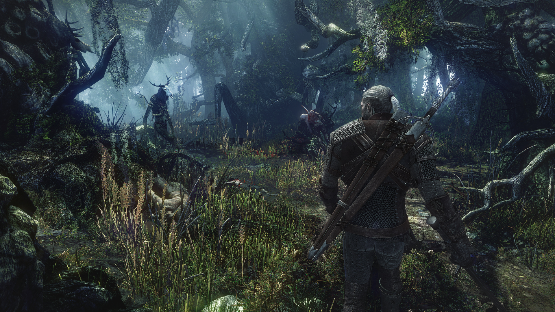 2_Leshen_is_a_very_powerful_monster-hiding_deep_in_the_murky_woods_of_No_Man's_Land