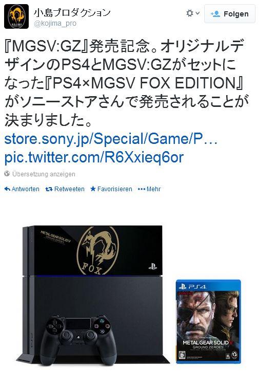 Metal Gear Ground Zeroes Tweet