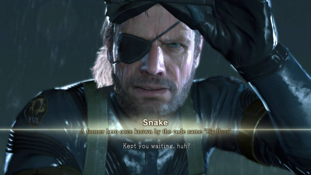 kept you waiting huh metal gear ground zeroes