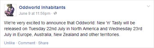 Oddworld Release Ankündigung