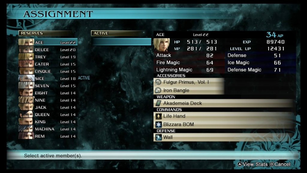 Final Fantasy Type 0 Class Zero CK Screen 1