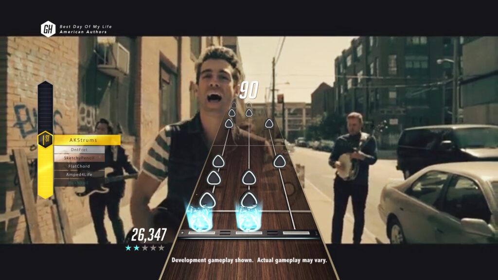 Offizielle Musikvideos als Hintergrund im TV-Modus ©Activision