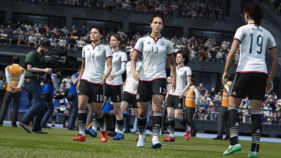 Women FIFA 16 Screen