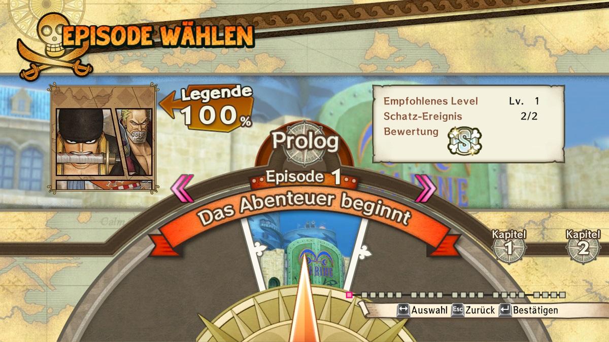 Segel setzen! Im Story-Modus können wir ein Teil der Strohhutbande sein und als Luffy und Co. jede epische Schlacht nachspielen. ©Screenshot