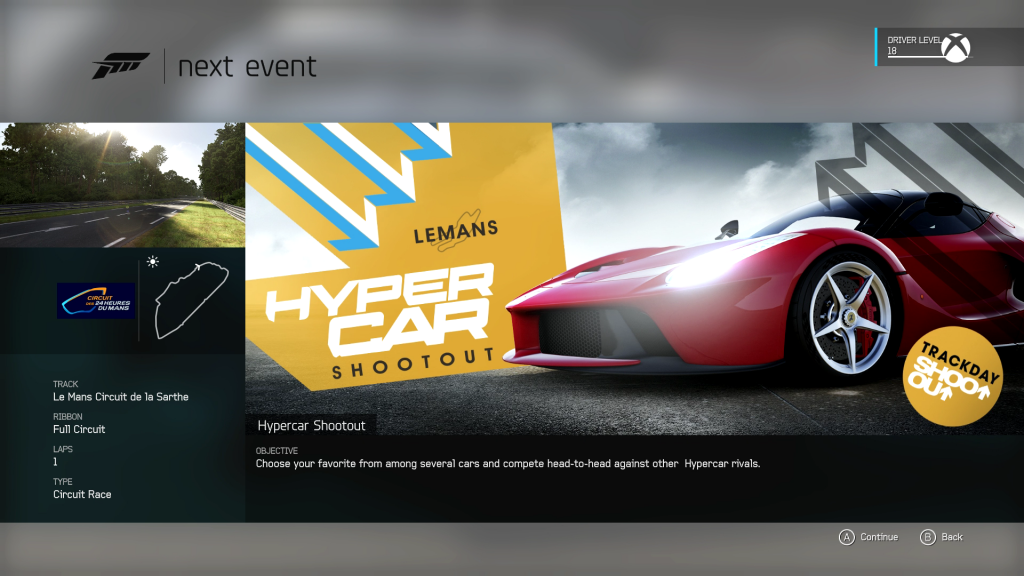 forza_6 Showcase Screen