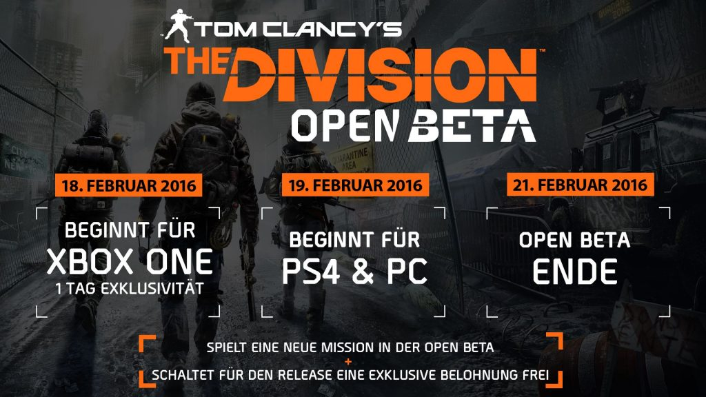 The Division Beta Screen