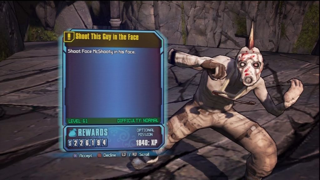 Mcshooty Face Borderlands