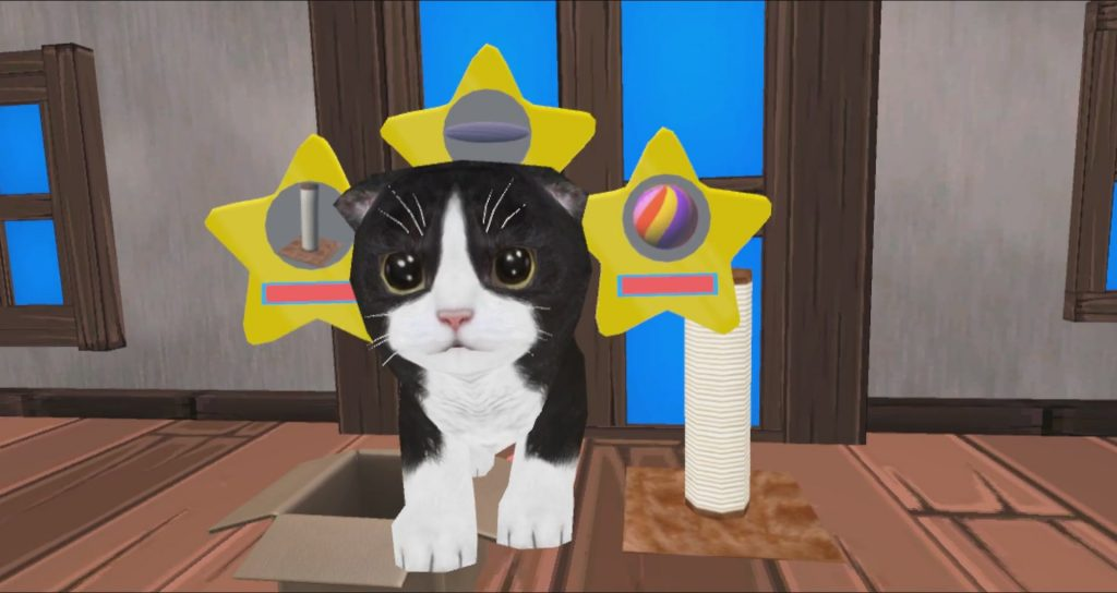 Konrad the kitten vr screen