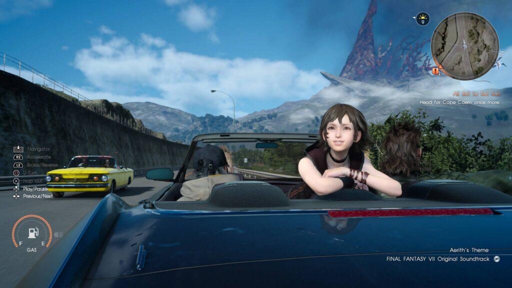 Car Screen Final Fantasy Regalia
