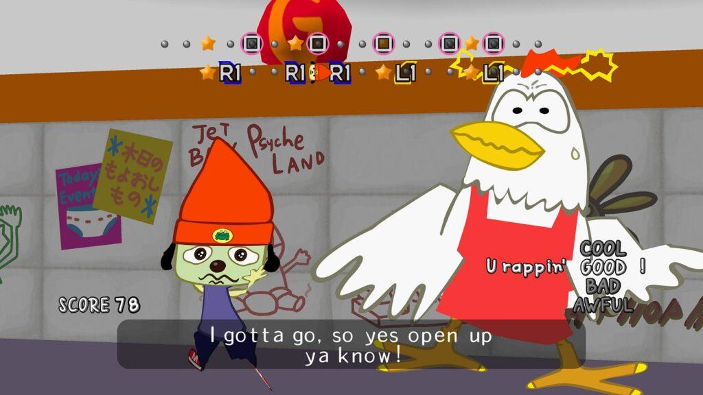 Screenshot PS4 Pro PaRappa