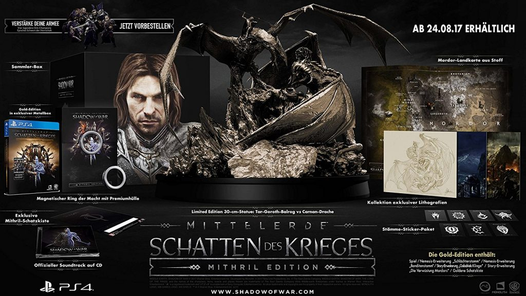Shadow of War Mithril Edition Collector