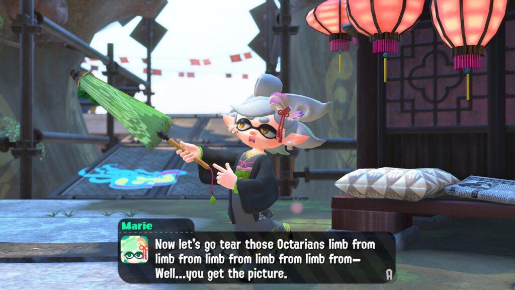 Screenshot Nintendo Switch Marie Splatoon 2