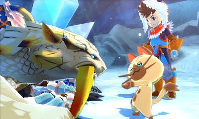 Screen Monster Hunter Stories 3DS