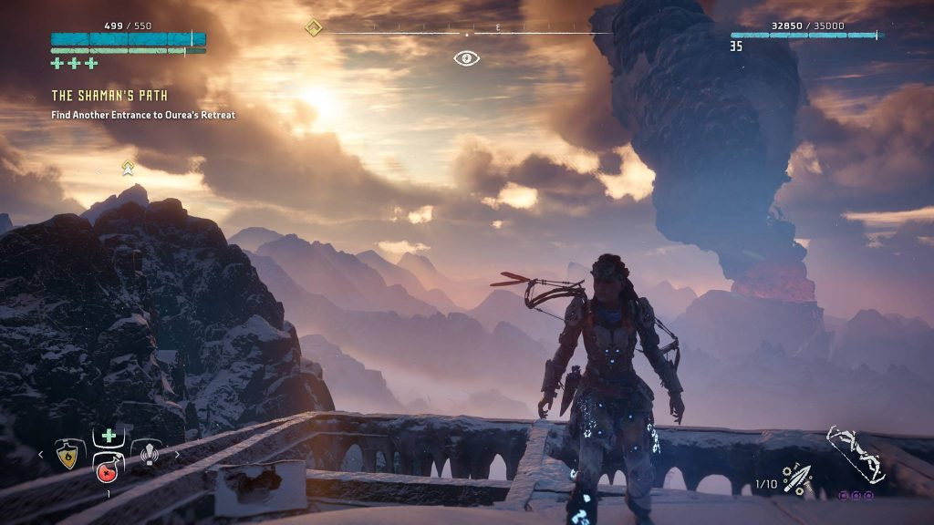 PS4 Pro Horizon Wolken Screenshot