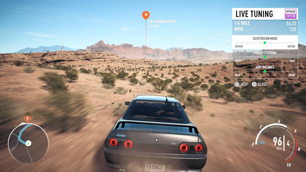 Need for Speed Payback Screenshot Live Tuning