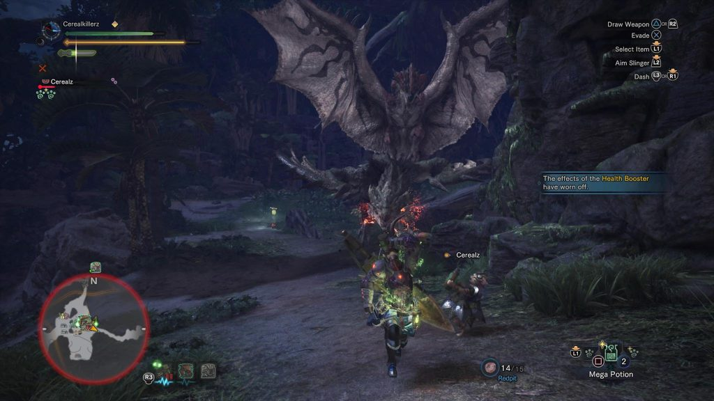 Screenshot Rathalos Rathian Monster Hunter PS4 Pro
