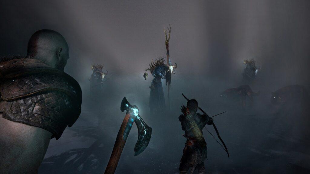 Kampf gegen Hexe God of War Screen 2018