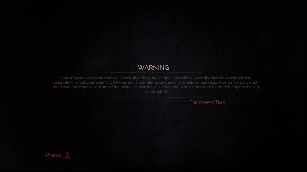 PS4 Pro Vampyr Screenshot