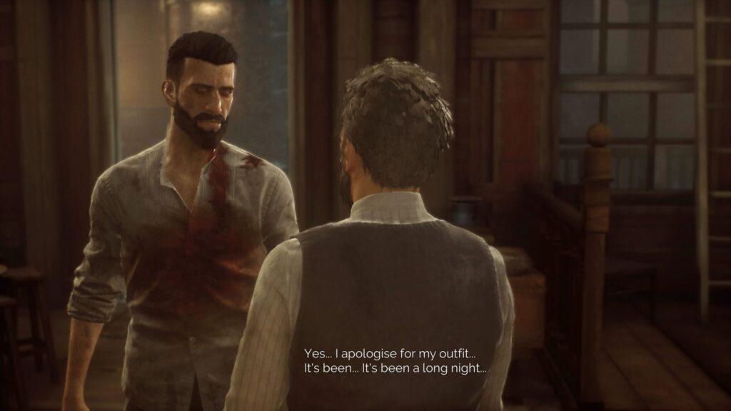 Vampyr Screenshot PS4 Pro Dialog Blood