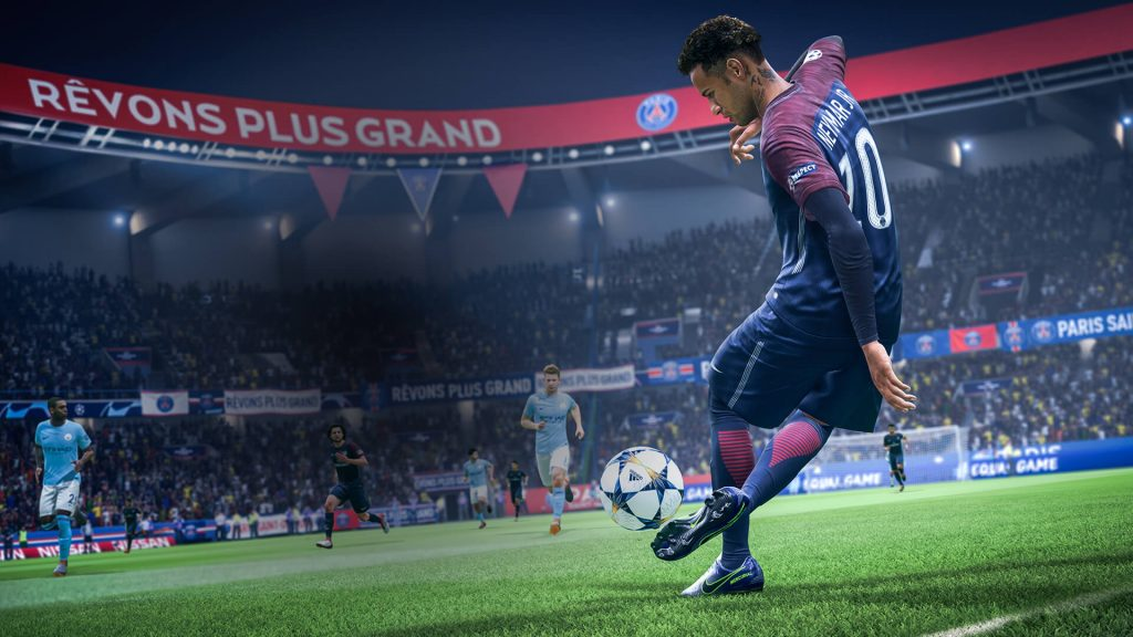 Screenshot FC Barcelona Neymar FIFA 19