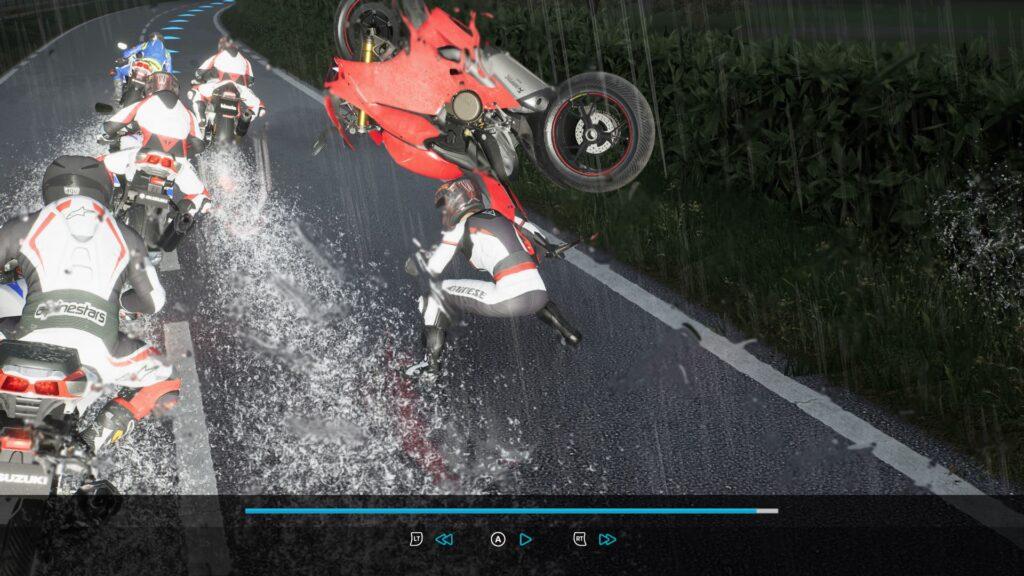 Screenshot RIDE 3 Review Regenwetter