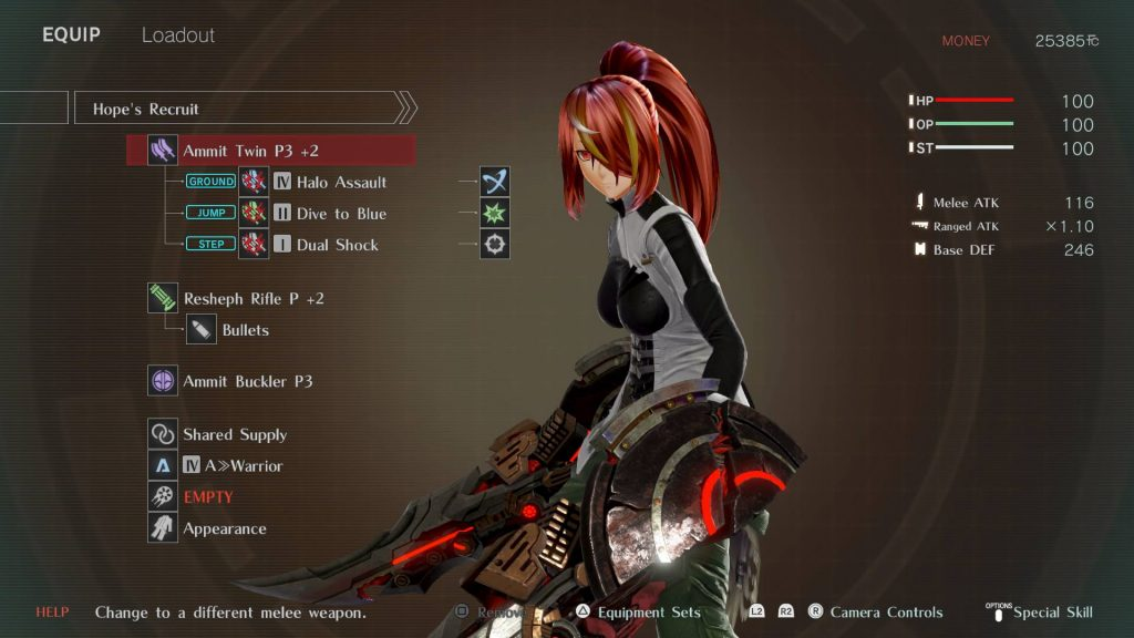 God Eater 3 Character Base Screen