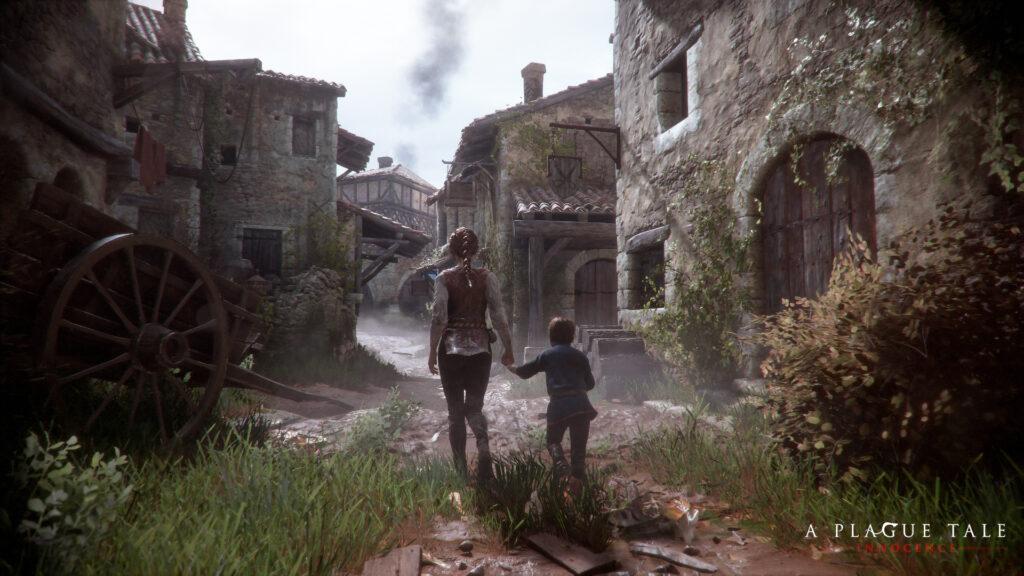 A Plague Tale Amicia und Hugo Screenshot Stadt.
