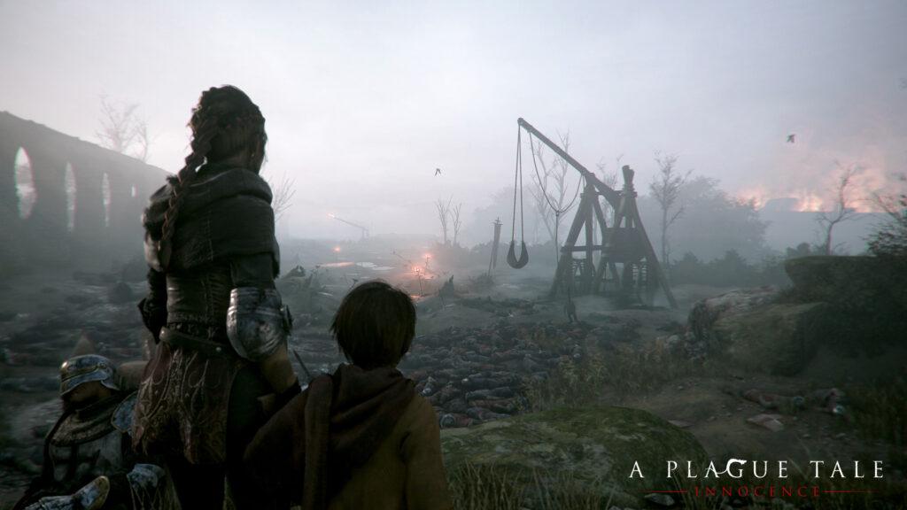 A Plague Tale Amicia und Hugo Screenshot PC Feld.