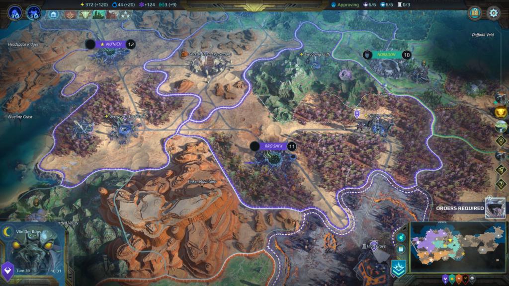 Age of Wonders Planetfall Karte Screenshot.