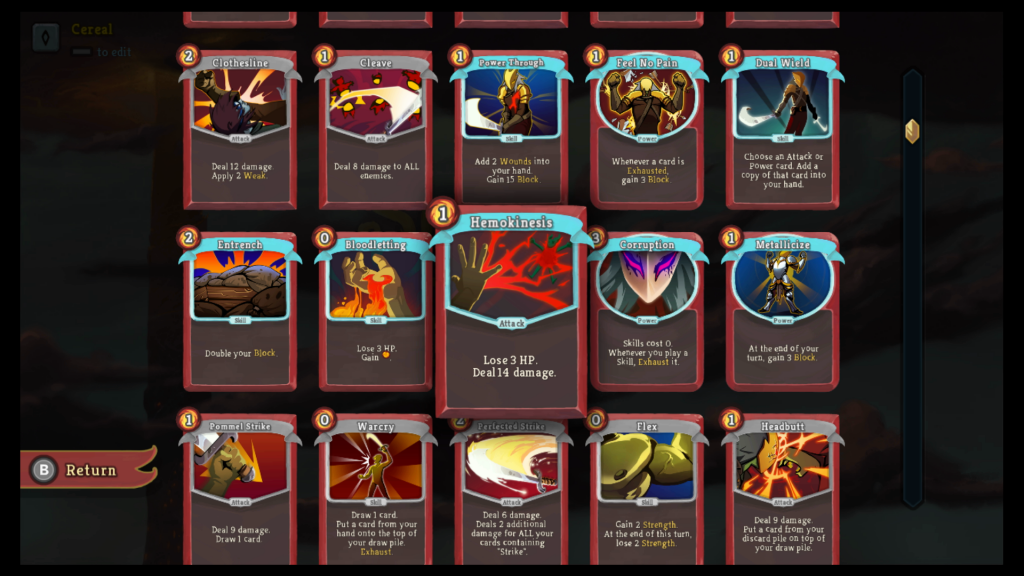 Slay the Spire Karten Nintendo Switch