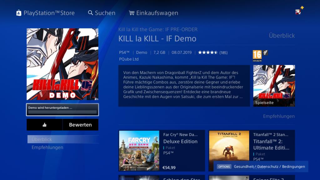 Kill la Kill Demo Screenshot PS4 gratis