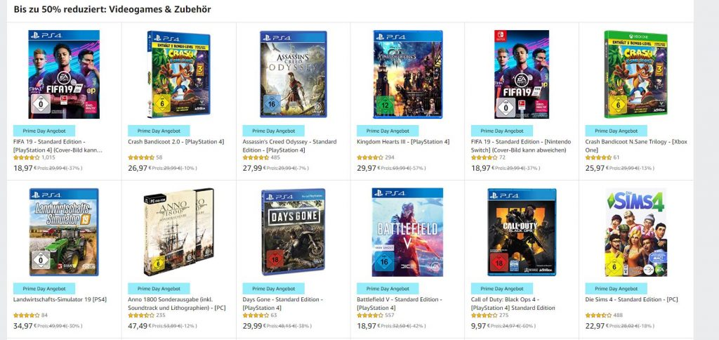 Amazon Spiele -50%
