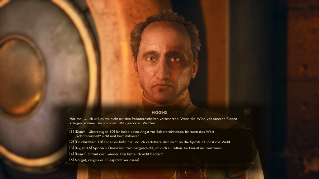 The Outer Worlds Dialog Screenshot