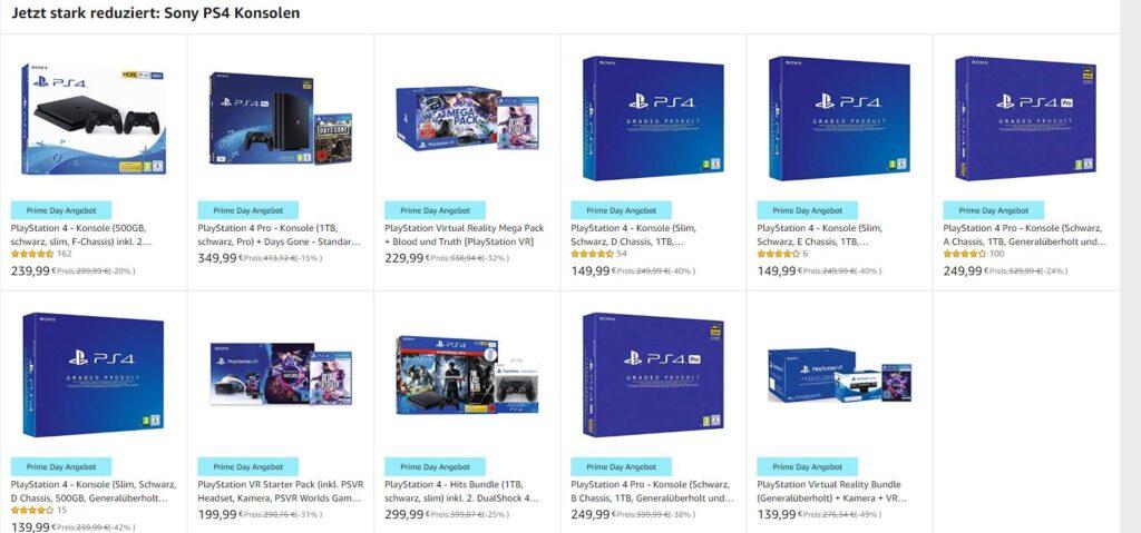 Amazon Prime Days PS4 Konsolen