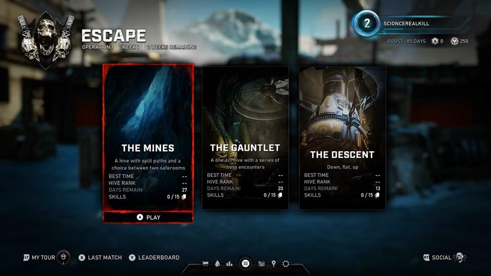 Escape Modus Gears 5