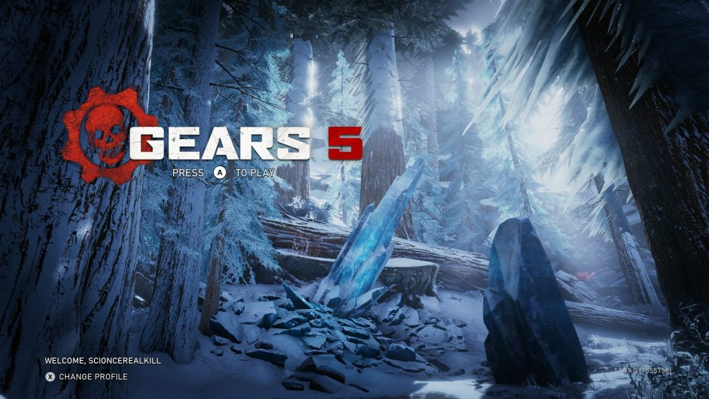 Gears 5 Startbildschirm