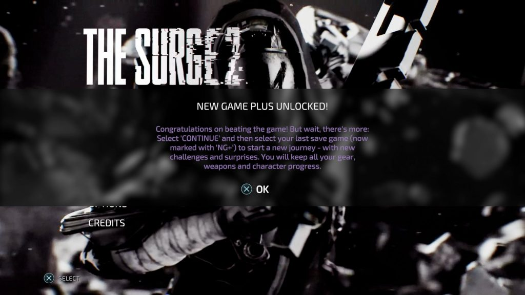 New Game+ The Surge 2