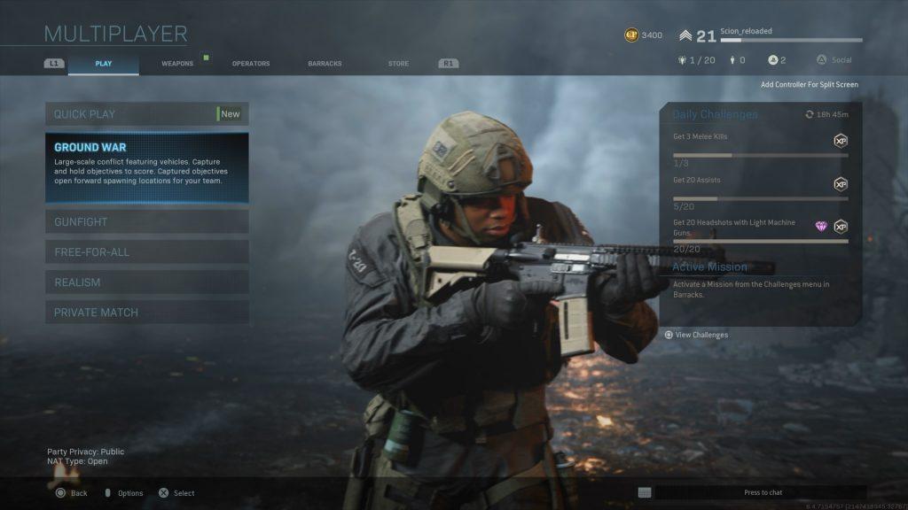 Call of Duty Modern Warfare Multiplayer Screenshot
