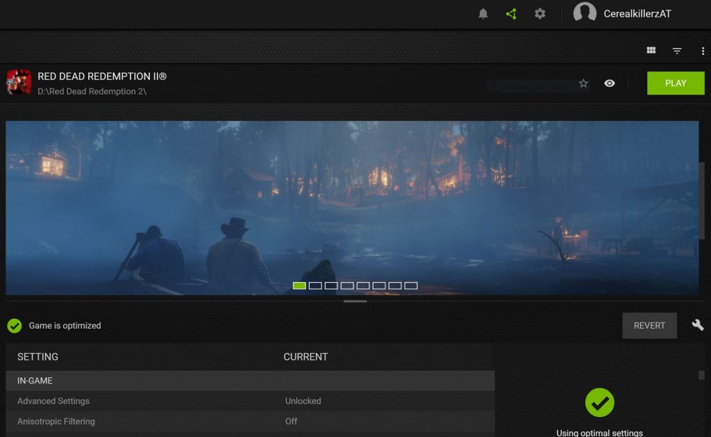 Red Dead Redemption 2 NVIDIA Optimierung