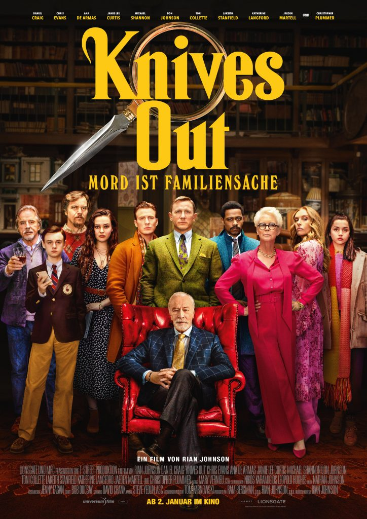 Filmplakat Knives Out – Mord ist Familiensache