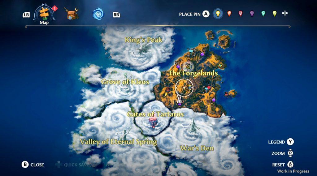 Immortals: Fenyx Rising  Map