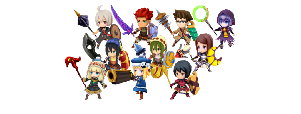Etrian Mystery Dungeon - 3D Models