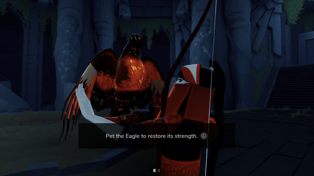 Pet the Eagle The Pathless Screenshot PS5