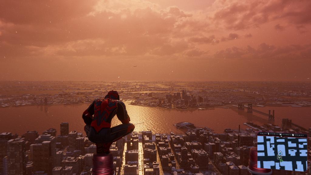 Spider-Man Miles Morales Screenshot Stadt PS4 Pro