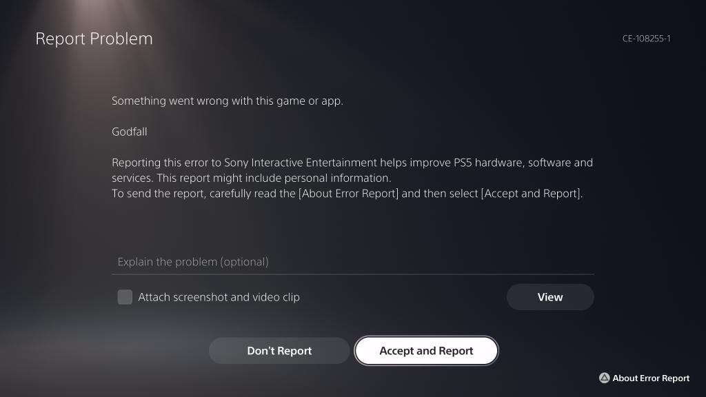 Godfall Crash PS5