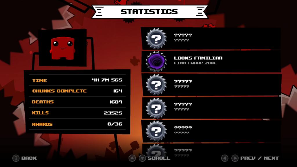 Super Meat Boy Forever Statistiken