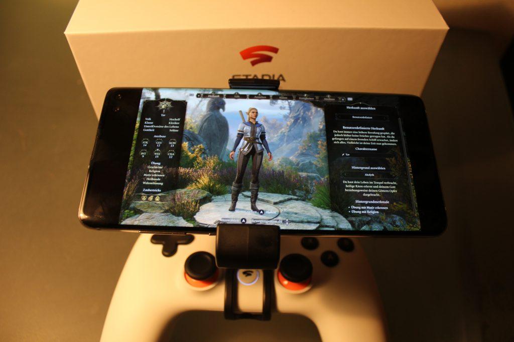 Baldur's Gate 3 Smartphone Stadia