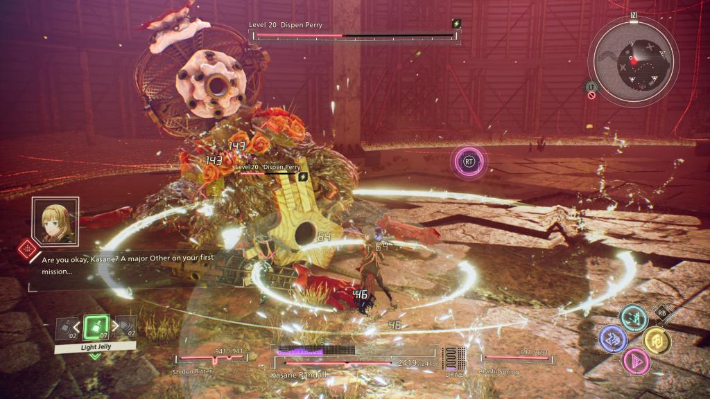 Scarlet Nexus Bosskampf Screenshot