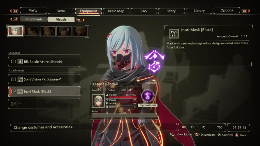 Scarlet Nexus Ausrüstungen