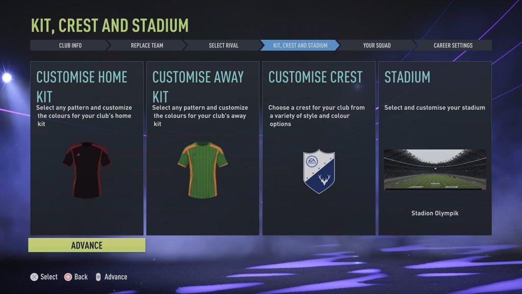 Create your Club FIFA 22 Screenshot Review